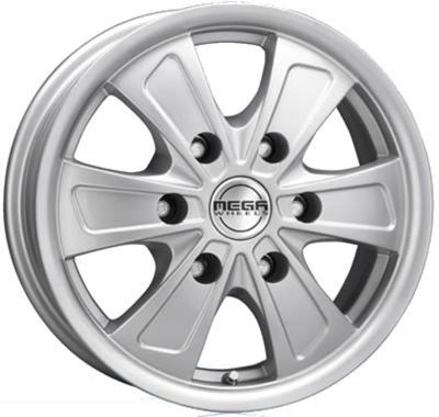 Mega Wheels Ferrera 6 Hyper silver