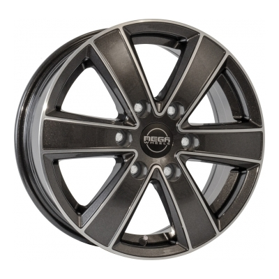 Mega Wheels Hercules 6 Anthracite grey front polished