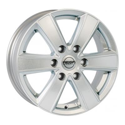 Mega Wheels Hercules 6 Silver