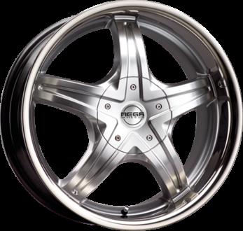 Mega Wheels Inoxera Hyper silver w/inox lip