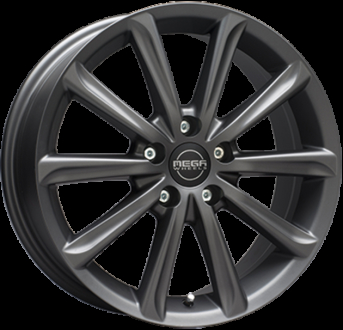 Mega Wheels Virgo Dark Mat anthracite grey