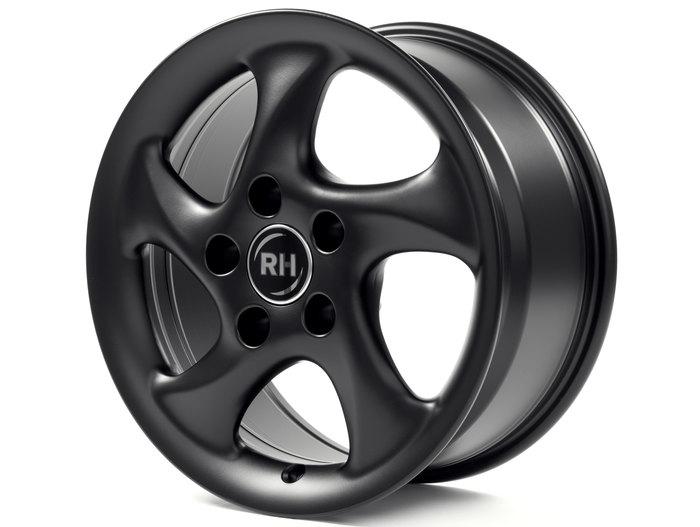 RH Alurad AH Turbo racing schwarz lackiert