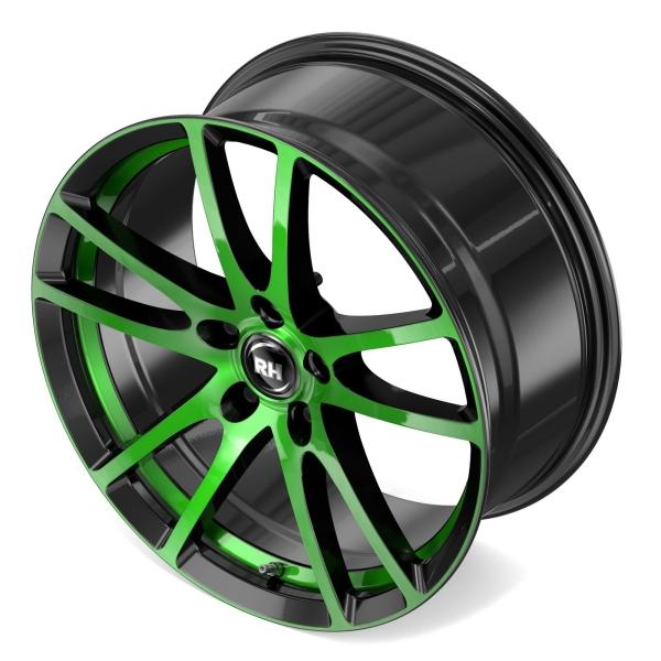 RH Alurad BO Flowforming color polished - green