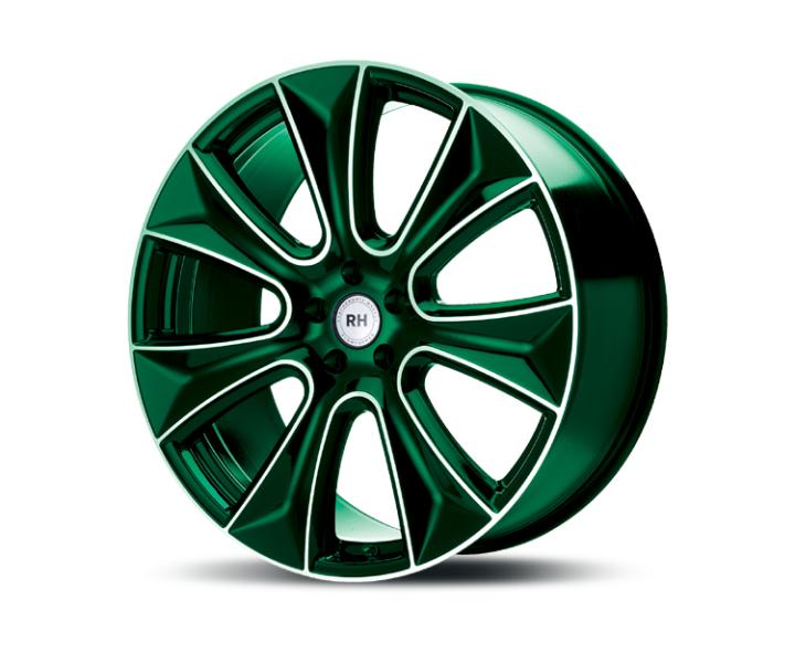 RH Alurad NAJ II color polished - green