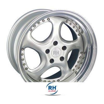 RH Alurad Turbo P silber/Horn Edelstahl