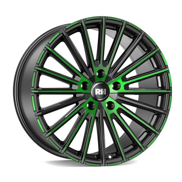 RH Alurad WM Flowforming color polished - green