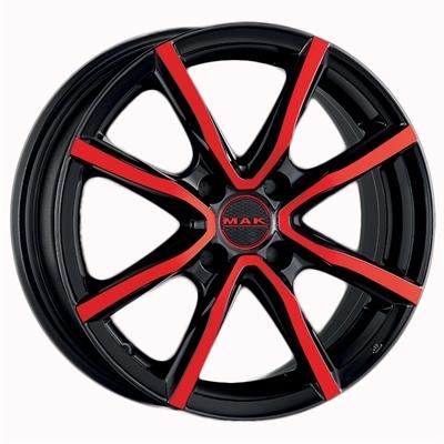 Mak milano 4 Black And Red Metallic