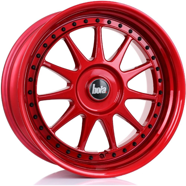 Bola B4 CANDY RED BLACK RIVETS