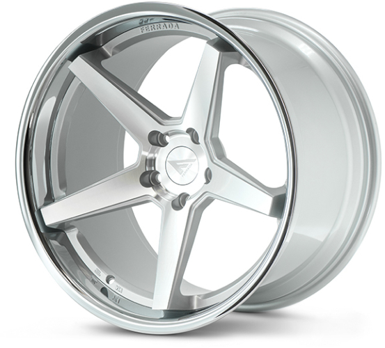 Ferrada FR3 Sølv/poleret/krom kant