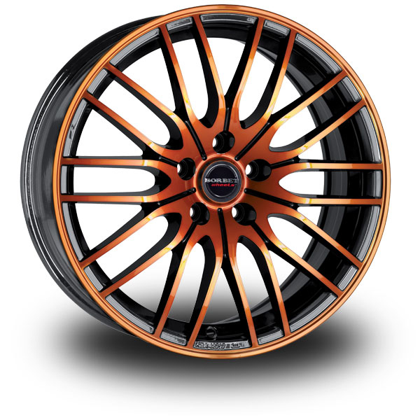 BORBET CW4 Black Orange BLACK ORANGE GLOSSY