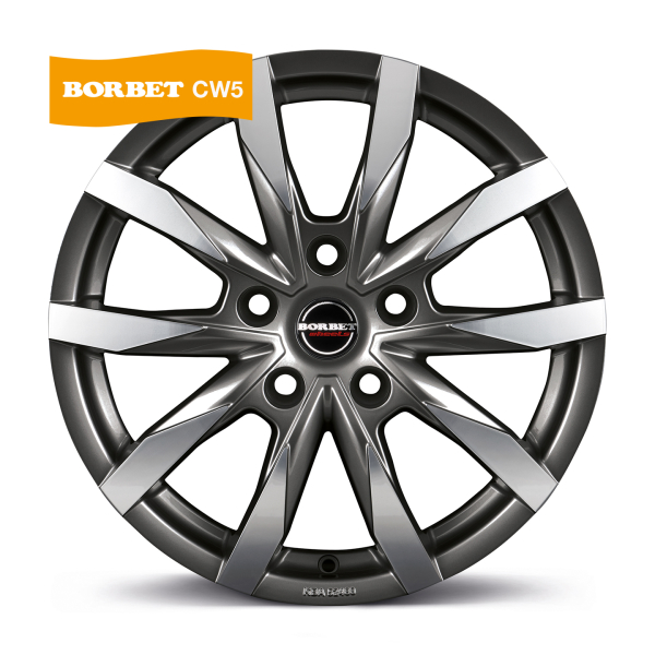 BORBET CW5 Antracite Polished MISTRAL ANTHRACITE GLOSSY POLISHED
