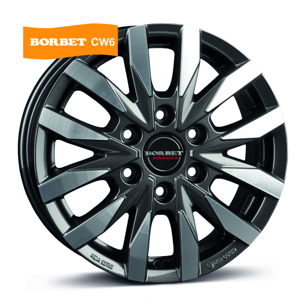 BORBET CW6 Antracite polished MISTRAL ANTHRACITE GLOSSY POLISHED