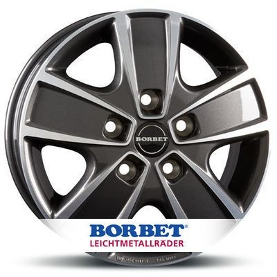 BORBET CWG Antracite Polished MISTRAL ANTRACITE GLOSSY POLISHED
