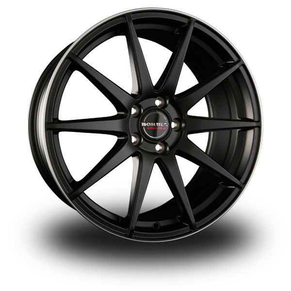 BORBET GTX Black Polished BLACK RIM POLISHED MATT