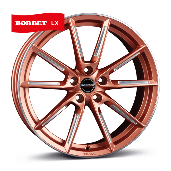 BORBET LX Copper Polished COPPER MATT SPOKE RIM POLISHED