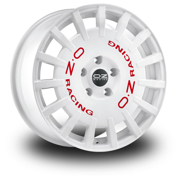 Oz Rally Racing White WHITE RED LETTERING