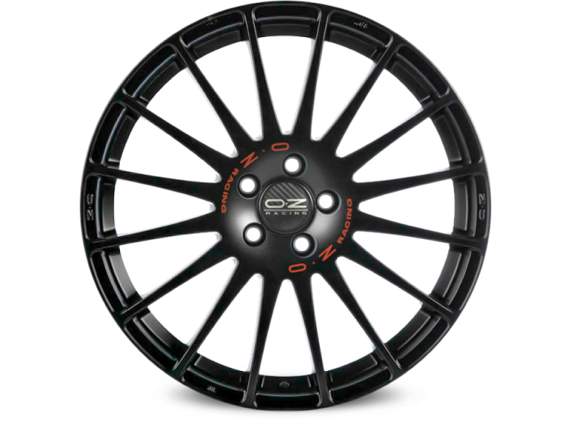 Oz Superturismo GT Black MATT BLACK RED LETTERING