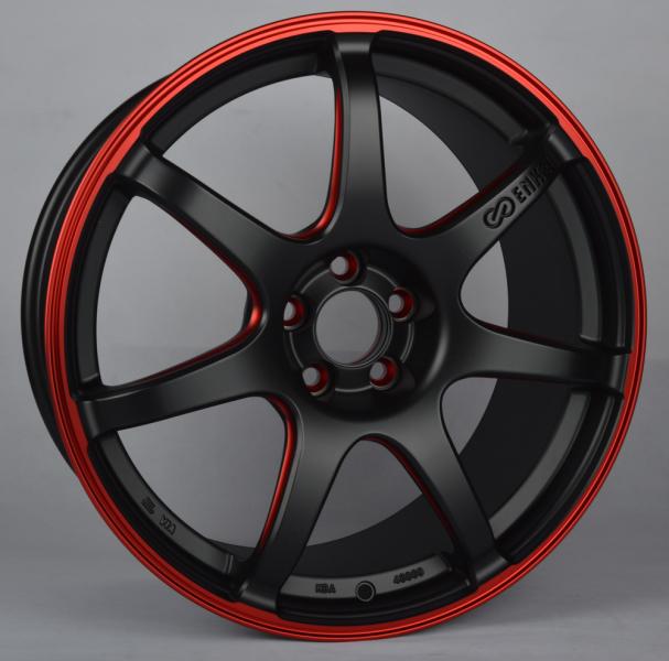 Enkei IZUMO RED (SC38) (EN03) MATT BLACK / RED ELOX (MBRD)