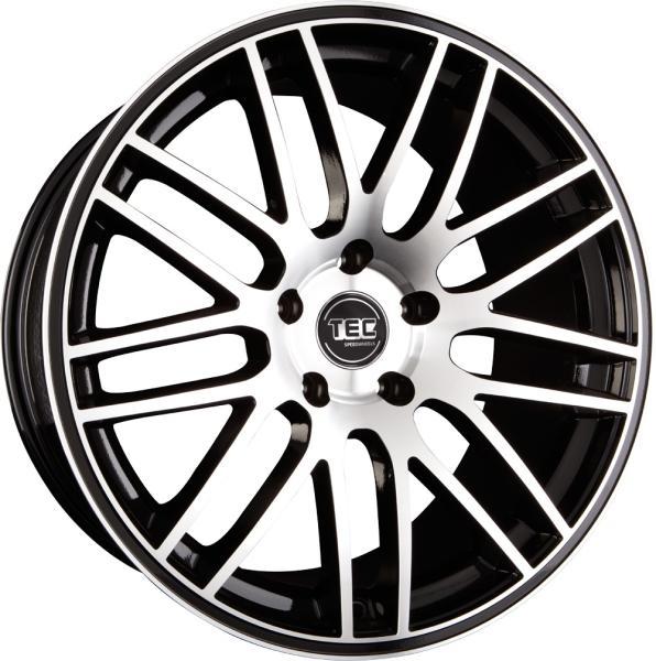 Tec-Speedwheels GT1 Schwarz-Glanz frontpoliert