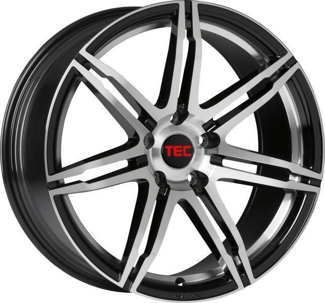 Tec-Speedwheels GT2-EVO Schwarz-Glanz frontpoliert