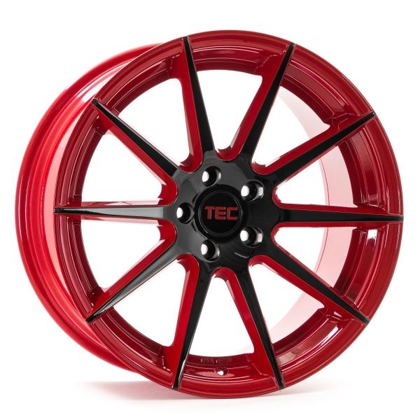 Tec-Speedwheels GT7 Rot-Schwarz-Glanz 2-farbig