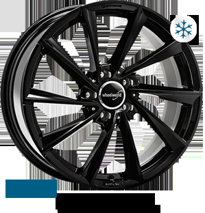Wheelworld WH32 Black glossy painted